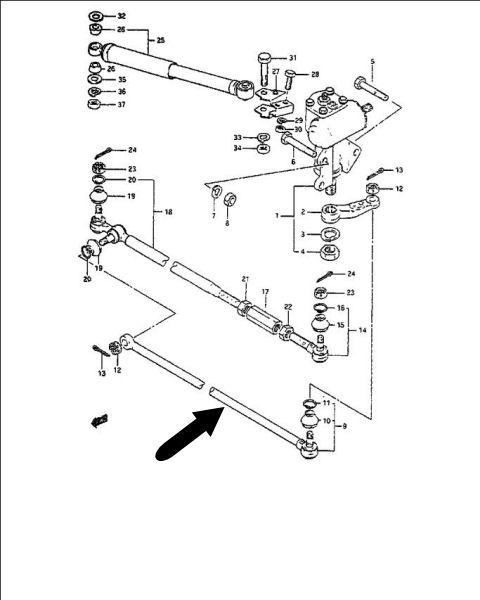 Rtula Direccin Suzuki Sj419 Sj410 48900 80060