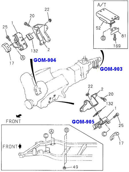 Soporte Motor 142x112x88 Isuzu Trooper