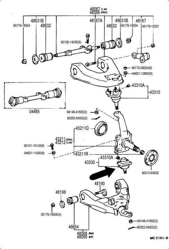 1988 Toyota Pickup Parts Diagram Toyota Auto Wiring Diagram