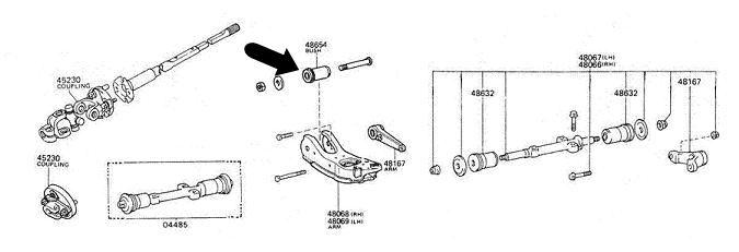 silentblock brazo inferior 4runner hilux 48654